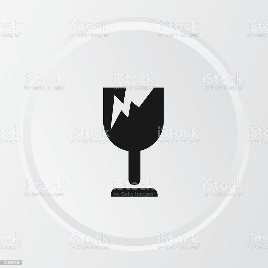Broken symbol,vector vector art illustration