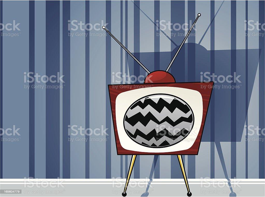 Broken TV vector art illustration