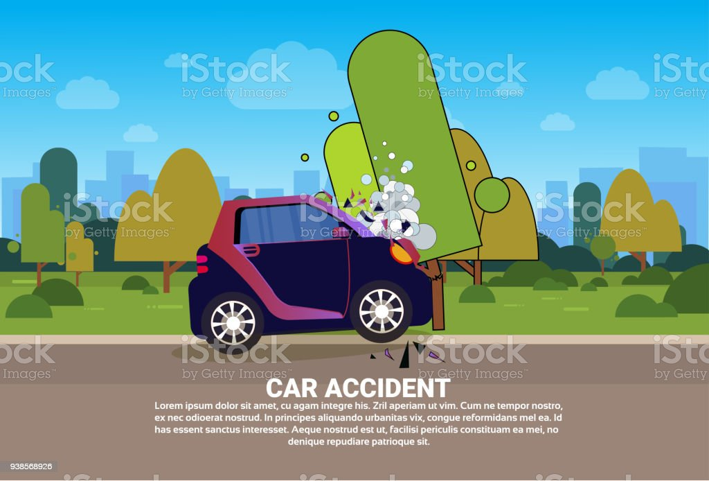 Broken Vehicle On Road Need Help And Technical Assistance Car Accident Concept Royalty Free