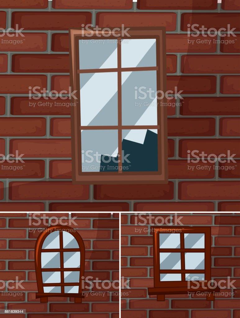 Zerbrochene Fensterscheiben auf die geflieste – Vektorgrafik