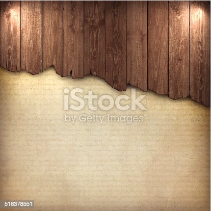 broken wood board on grungy background.