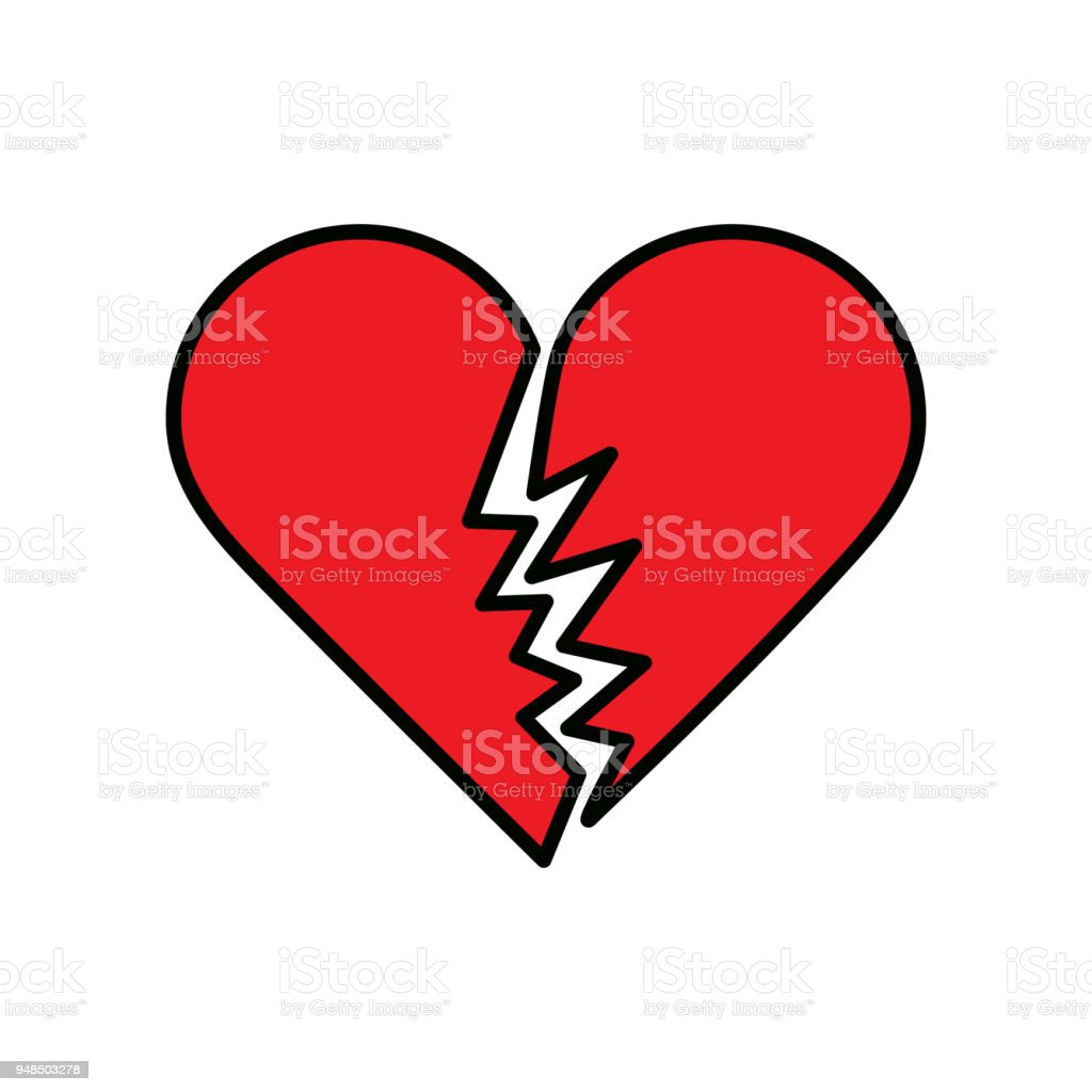 Broken_Heart vector art illustration