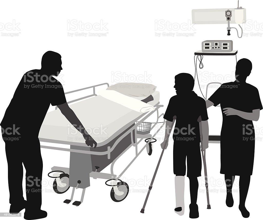 BrokenLeg vector art illustration