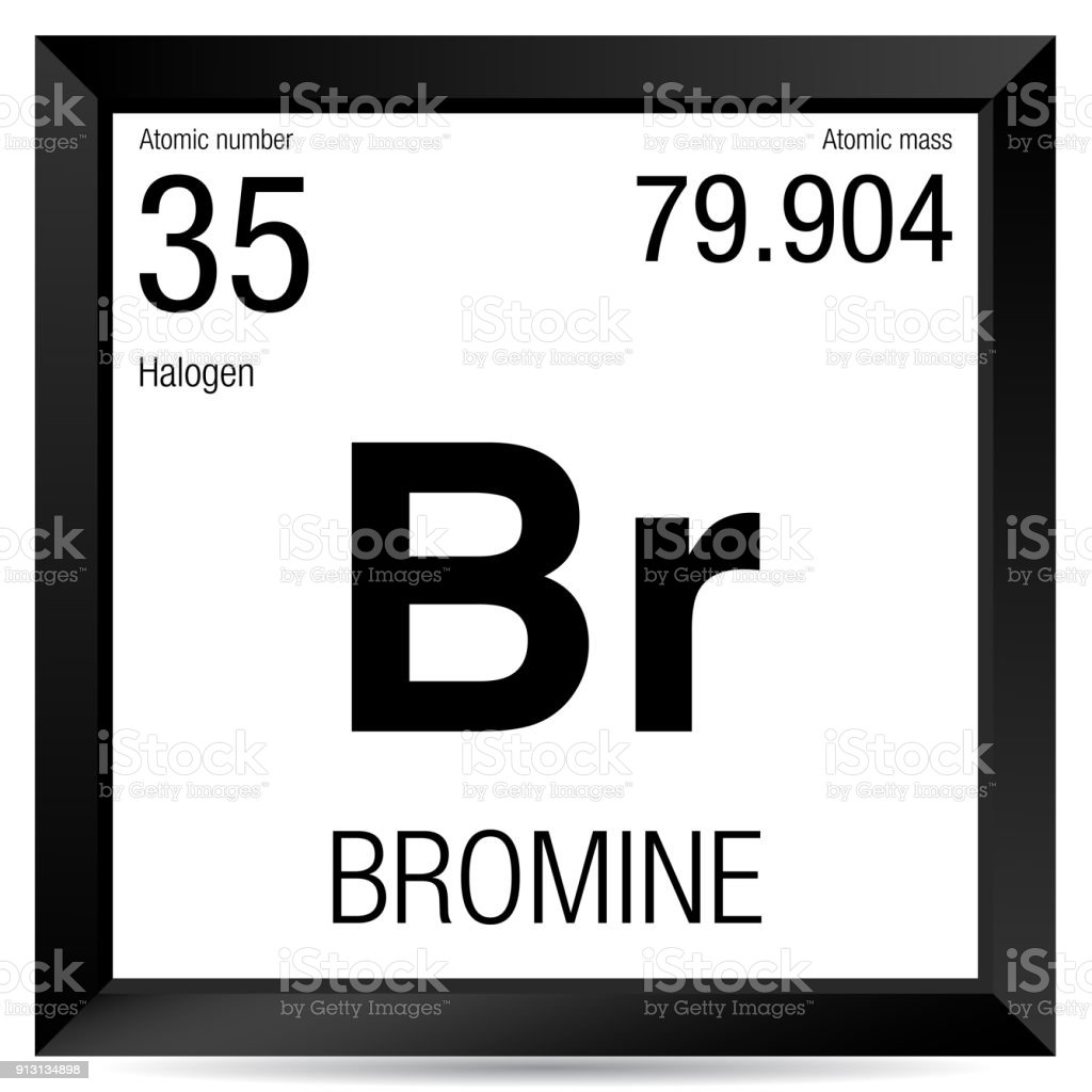Bromine Symbol Element Number 35 Of The Periodic Table Of