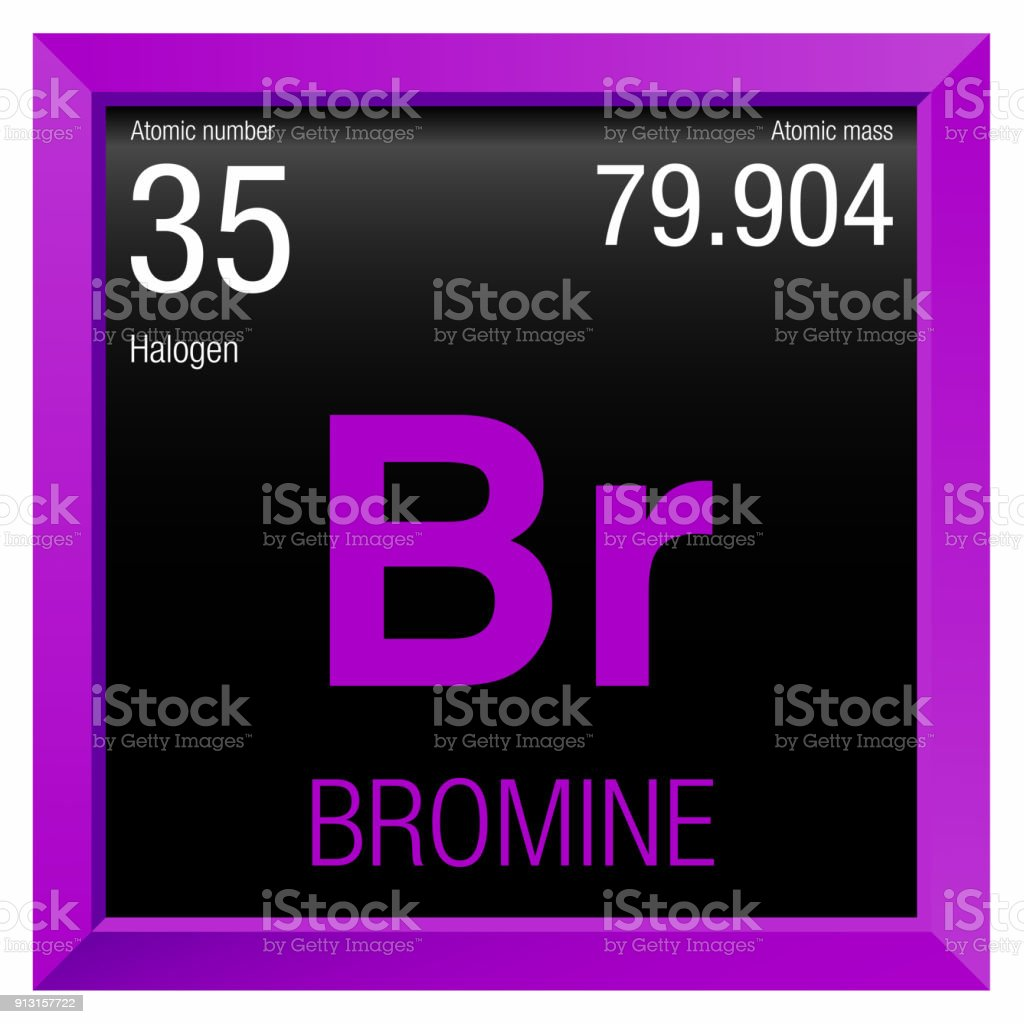 Bromine Symbol Element Number 35 Of The Periodic Table Of The
