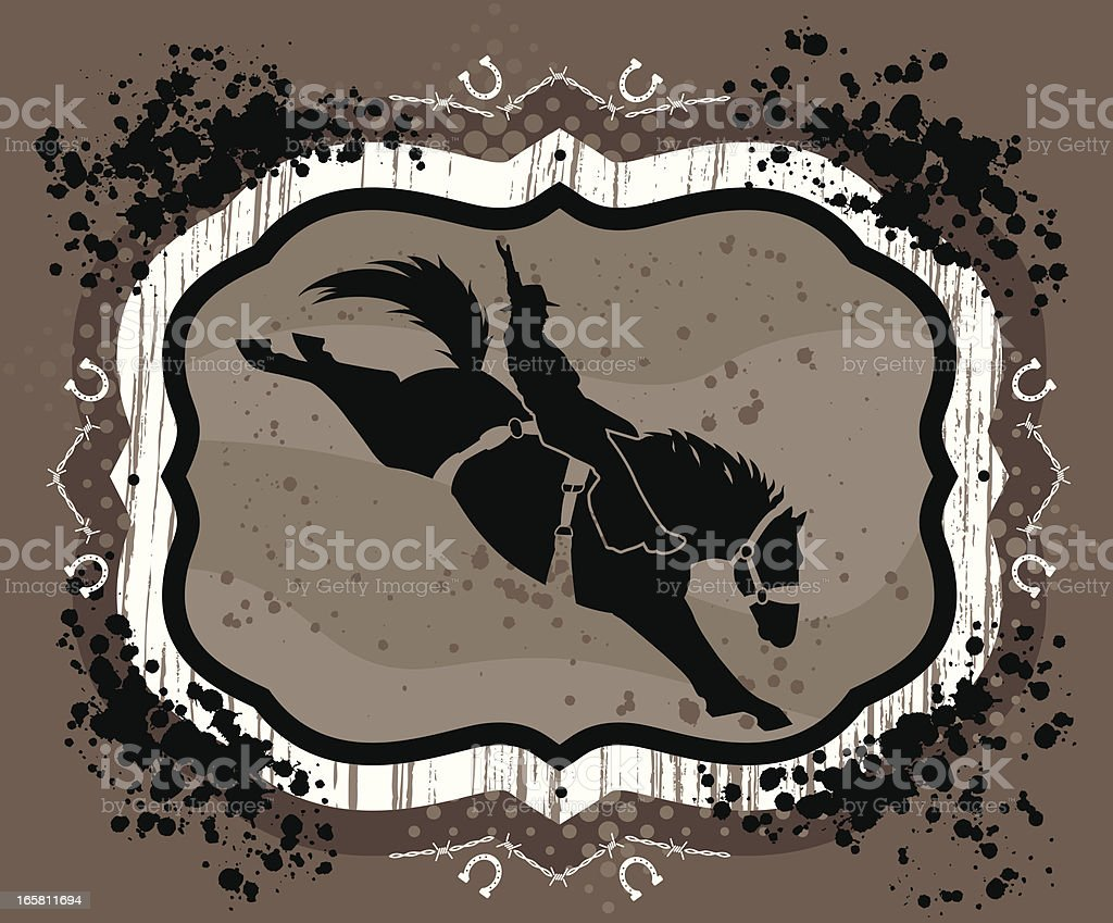 Bronc rider royalty-free bronc rider stock vector art & more images of barbed wire