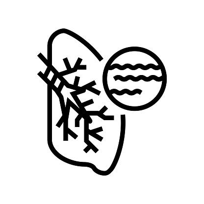 bronchitis disease line icon vector illustration