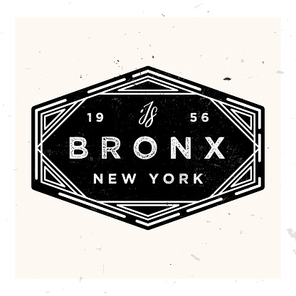 Bronx New York Apparel LAbel Design, Vector Illustration