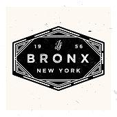 istock Bronx New York Apparel LAbel Design, Vector Illustration 1207744793