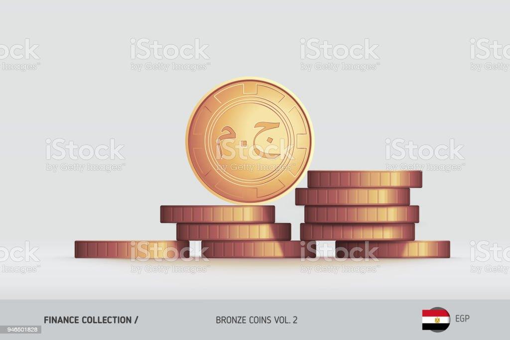 Monnaies De Bronze Piece De Livre Egyptienne Realiste