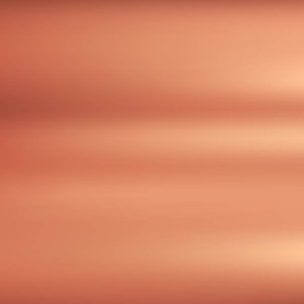 bronze metallic hintergrundtextur mit poliert. - kupfer stock-grafiken, -clipart, -cartoons und -symbole