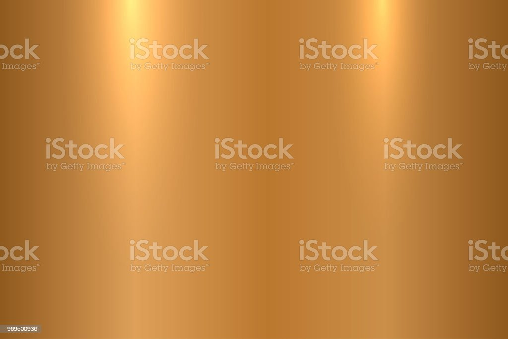 Bronze metallic texture. Shiny polished metal surface - vector background vector art illustration