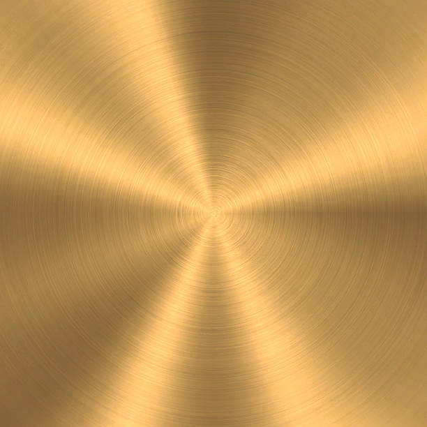 bronze or copper - circular brushed metal texture - kupfer stock-grafiken, -clipart, -cartoons und -symbole