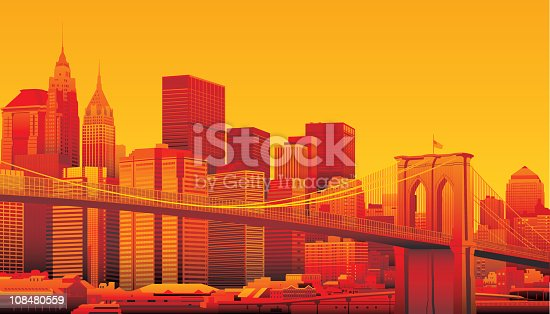 istock Brooklyn Bridge and Manhattan, New York City. 108480559