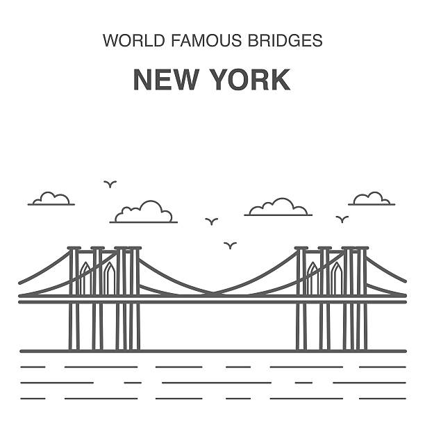 Royalty Free New York Bridge Clip Art Vector Images