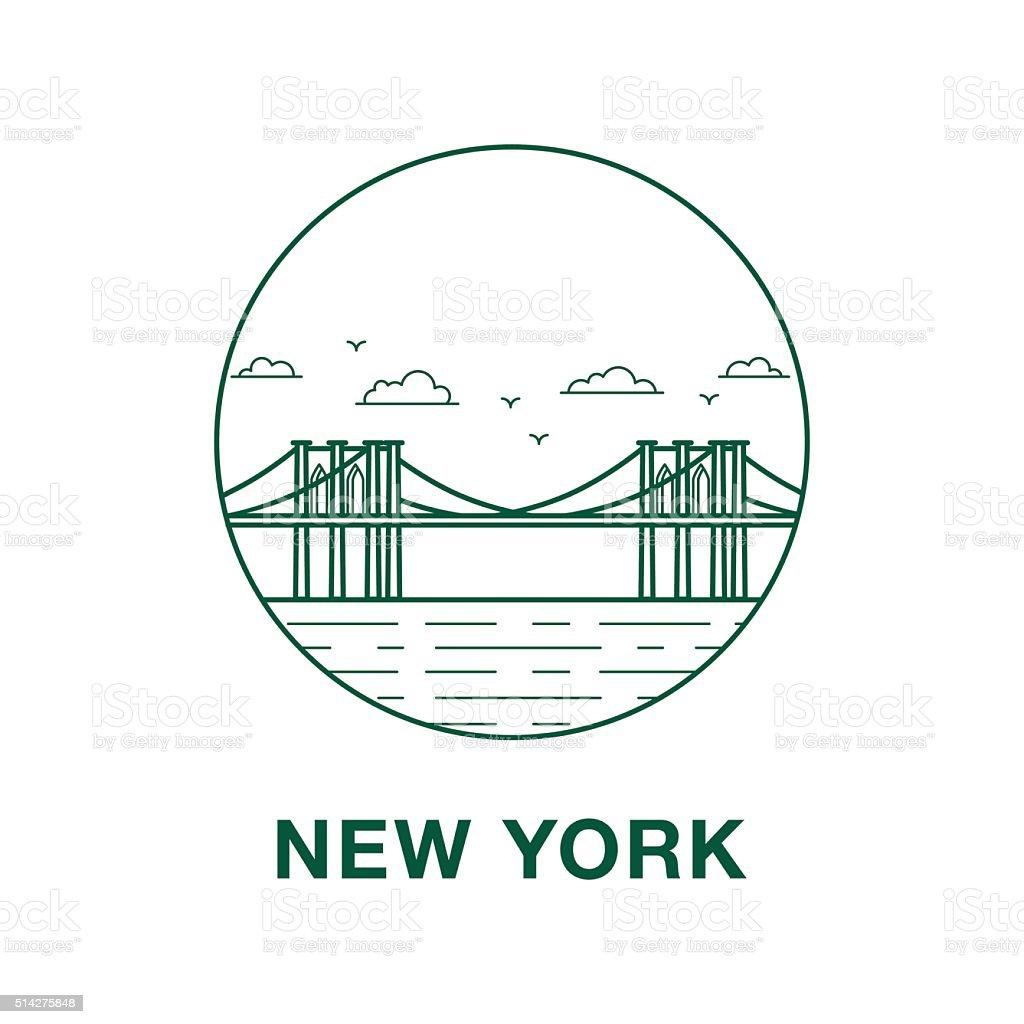 Brooklyn bridge illustration vector art illustration