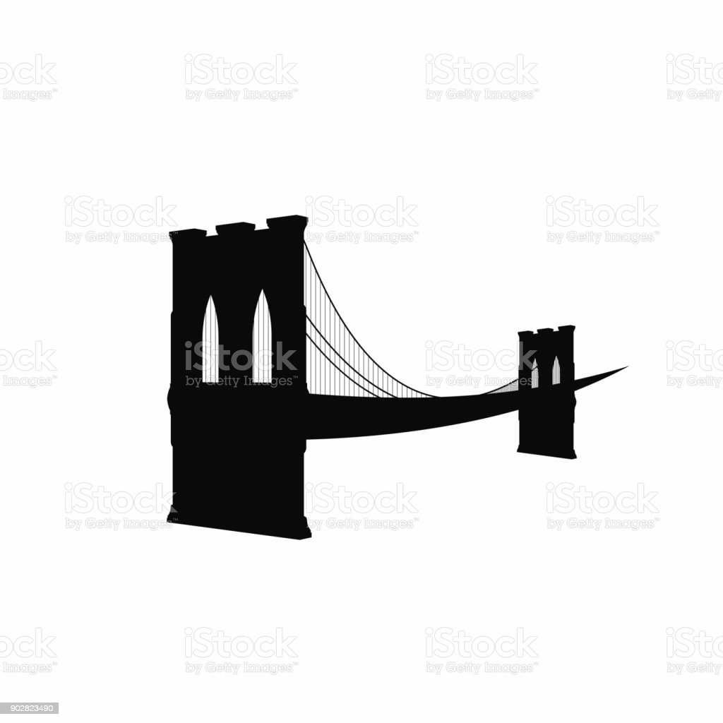 brooklyn bridge silhouette black brooklyn bridge icon isolated on rh istockphoto com Brooklyn Bridge Silhouette brooklyn bridge silhouette clip art