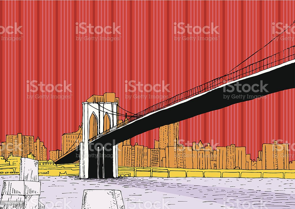 Brooklyn Bridge royalty-free brooklyn bridge stock vector art & more images of bridge - built structure