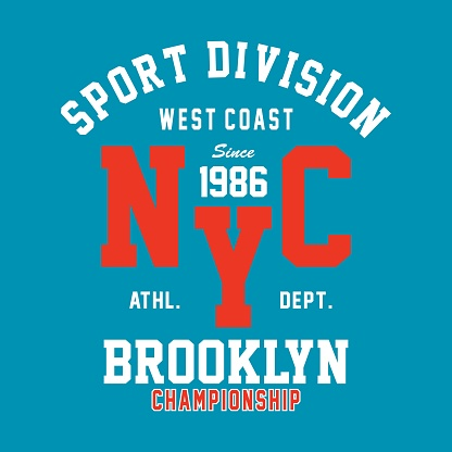 brooklyn champs print design for t-shirt and other uses