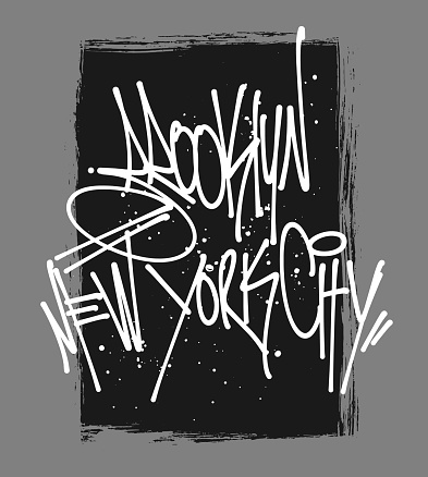 Brooklyn Mew York lettering typography, t-shirt graphics.