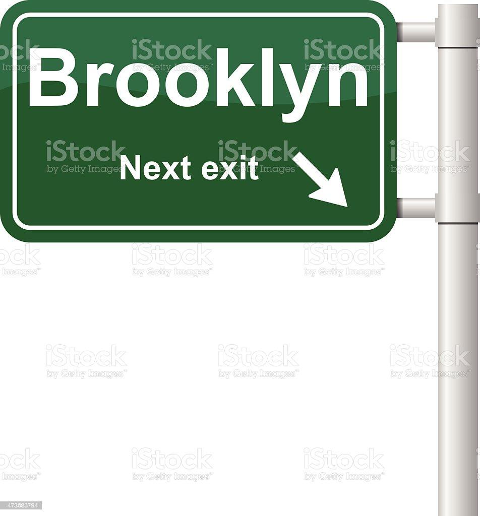 Brooklyn next exit signal vector vector art illustration