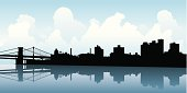 Brooklyn Skyline Silhouette