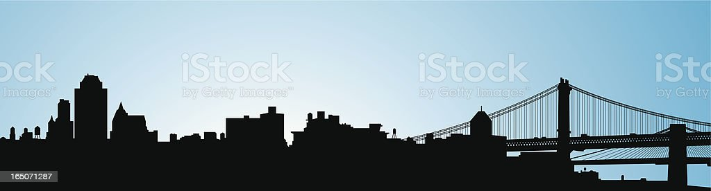 Brooklyn Skyline vector art illustration
