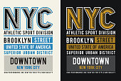 NYC Brooklyn typography for t-shirt print