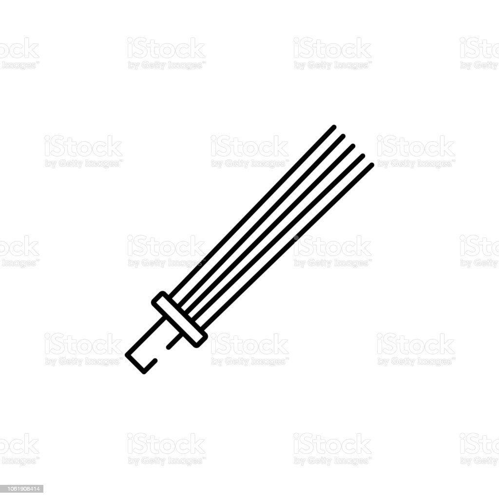 broom broomstick icon element of pakistan culture for mobile concept OSD Symbol element of pakistan culture for mobile concept and web apps illustration