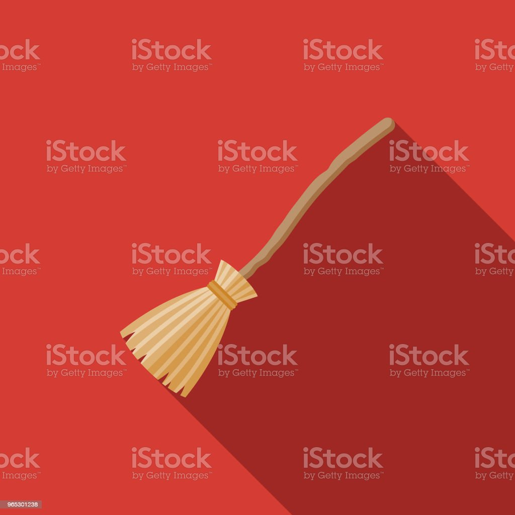 Broom Flat Design Fantasy Icon royalty-free broom flat design fantasy icon stock illustration - download image now