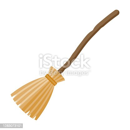 istock Broom Icon on Transparent Background 1283073101