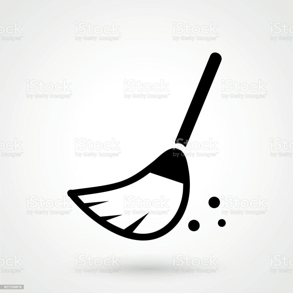 broom icon vector vector art illustration