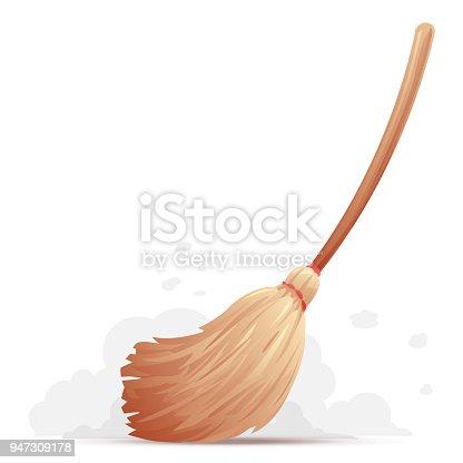 istock Broom Sweep Floor 947309178
