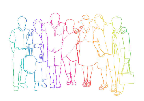 brothers and sisters reunion rainbow - reunion stock illustrations, clip art, cartoons, & icons