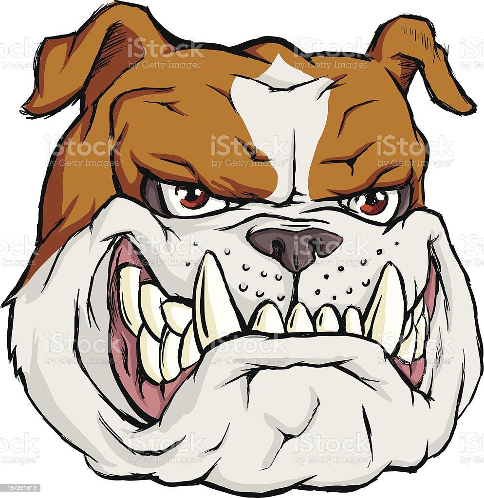 Broun bulldog vector art illustration