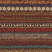 Brown African pattern