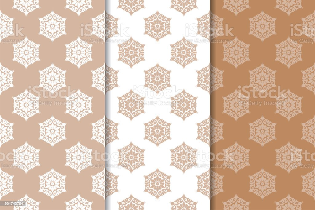 Brown and beige floral backgrounds royalty-free brown and beige floral backgrounds stock illustration - download image now