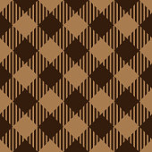 Brown and beige color lumberjack seamless diagonal pattern background.