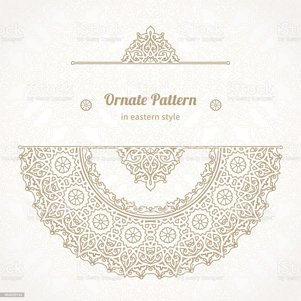 A brown and cream lace pattern vector vector art illustration