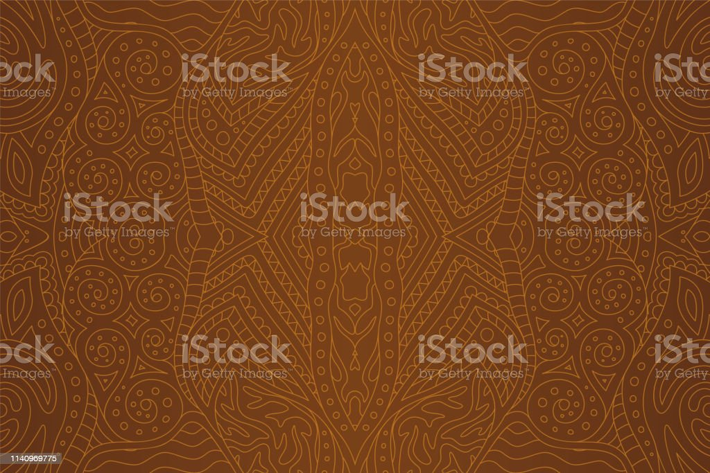 Brown background with beautiful seamless detailed linear pattern