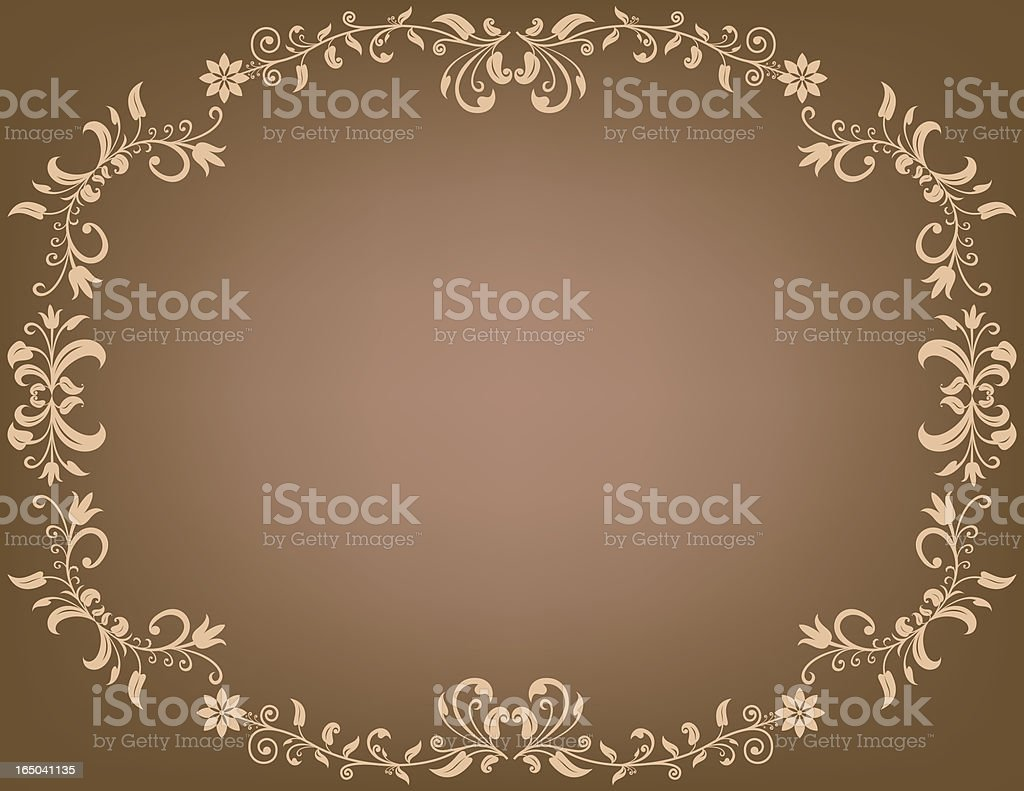 brown background ornament royalty-free stock vector art