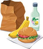 istock Brown bag lunch 115056068