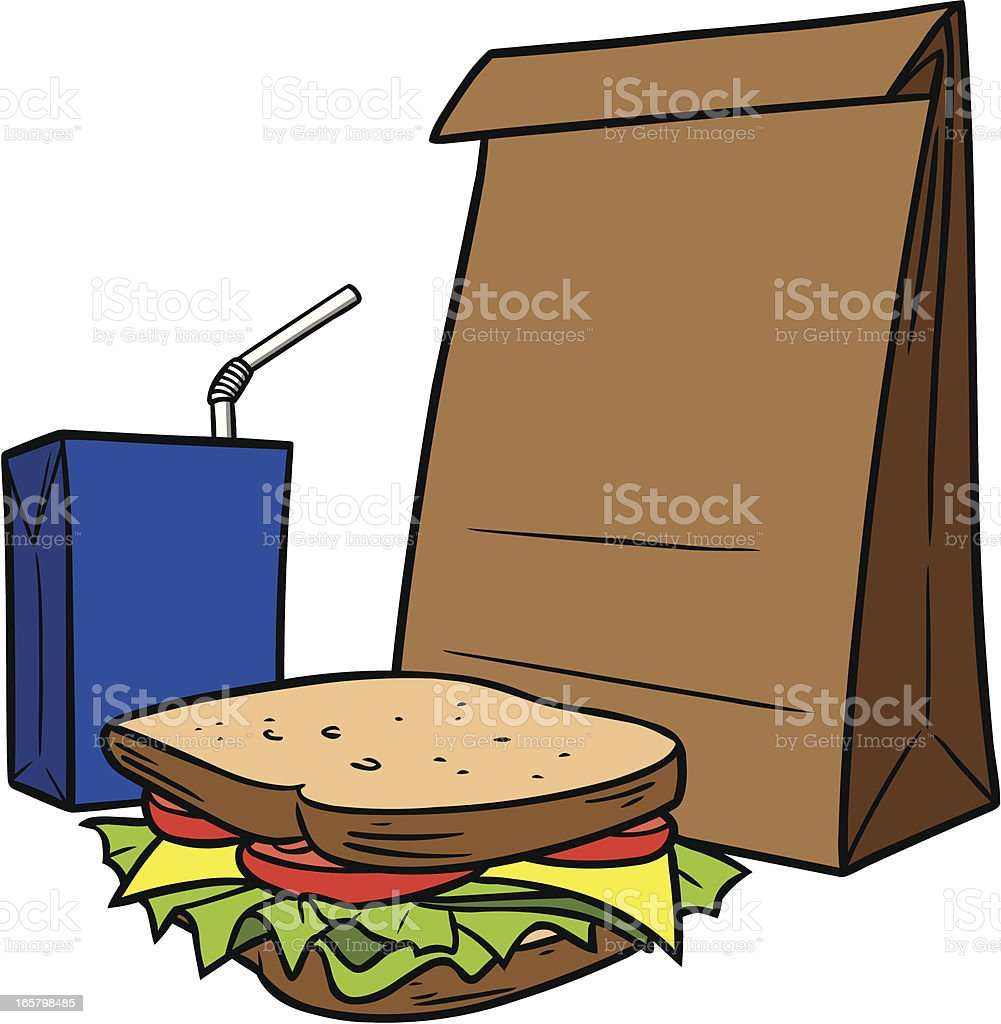 royalty free brown bag lunch clip art vector images illustrations rh istockphoto com lunch clipart free launch clip art
