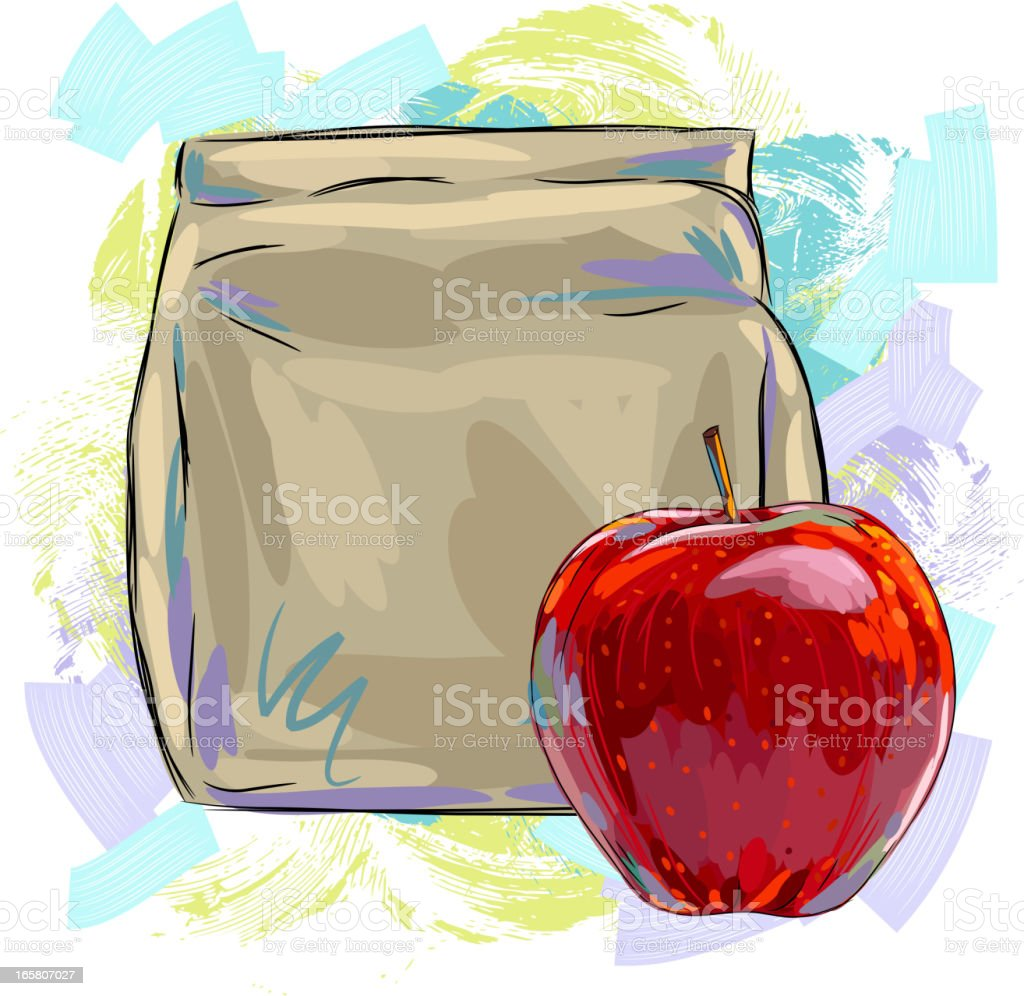 Brown bag Lunch royalty-free brown bag lunch stock vector art & more images of antioxidant