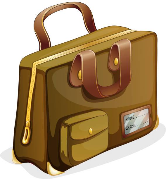 brown bag - lederranzen stock-grafiken, -clipart, -cartoons und -symbole