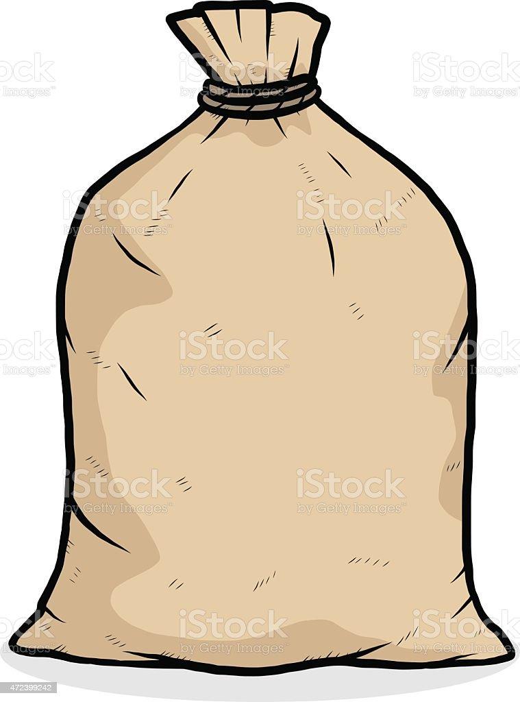 brown bag vector art illustration
