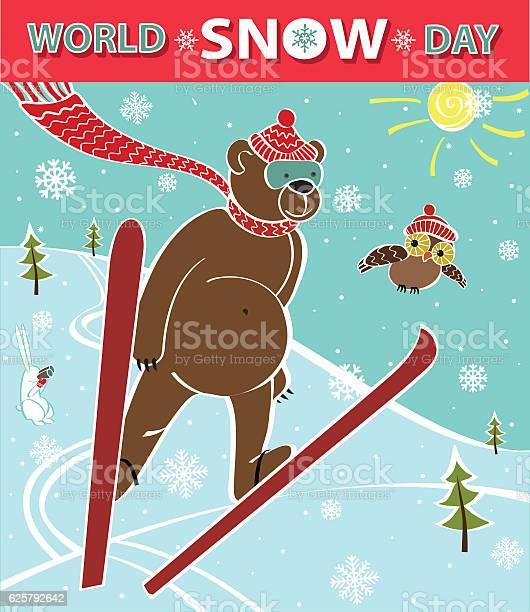 Brown bear ski jumping world snow day vector id625792642?b=1&k=6&m=625792642&s=612x612&h=wu9qwwvxkul 4ahzjr3wmim3afwshrubsgtckffqtwg=