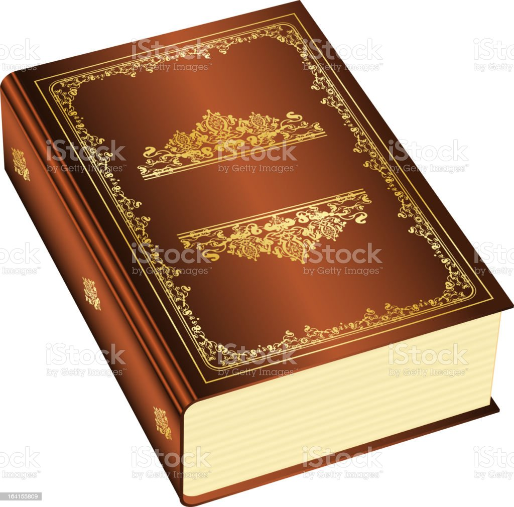 Brown book royalty-free stock vector art