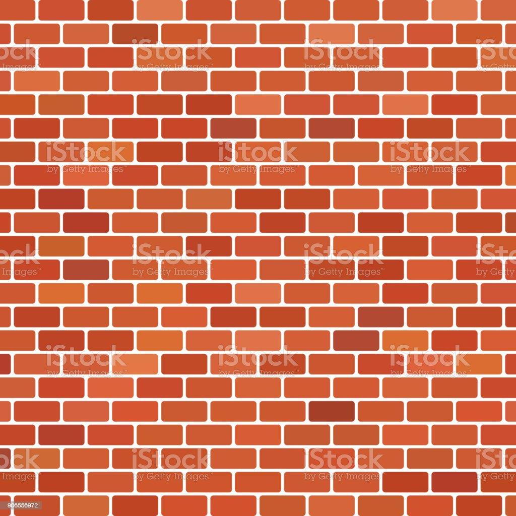 Brown brick wall background vector art illustration