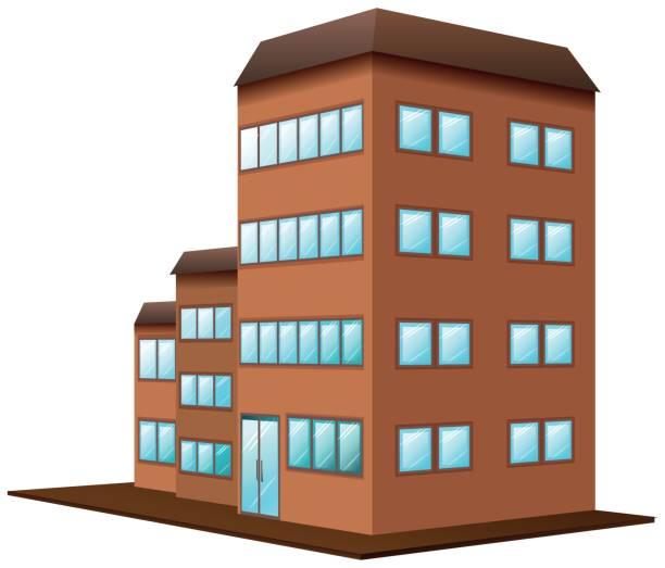 Building Cartoon Heroes Icon Stock Vector - Illustration ...  |Brown University Building Cartoon
